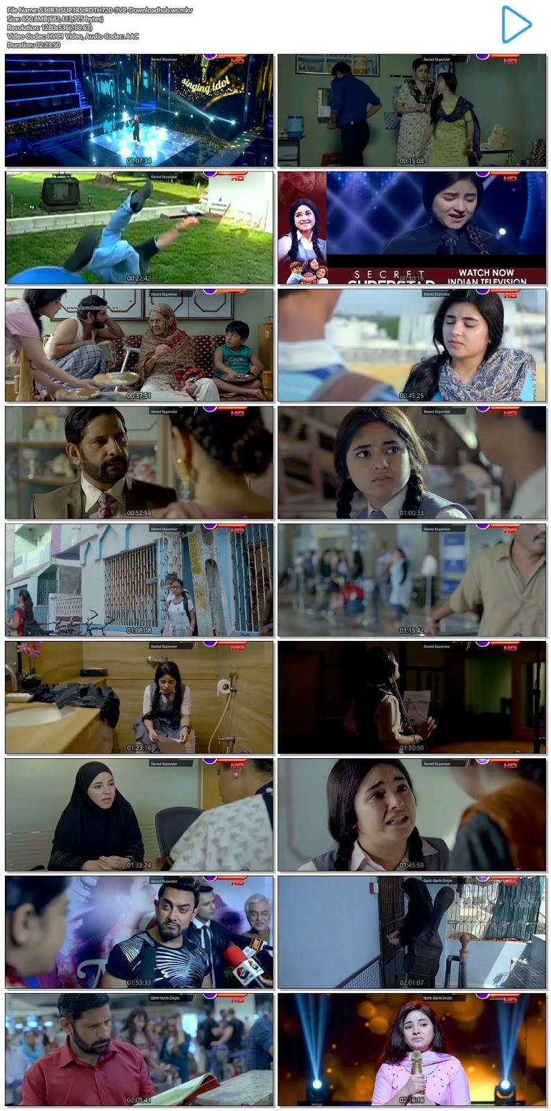 Secret Superstar 2017 Hindi 720p HEVC DTHRip