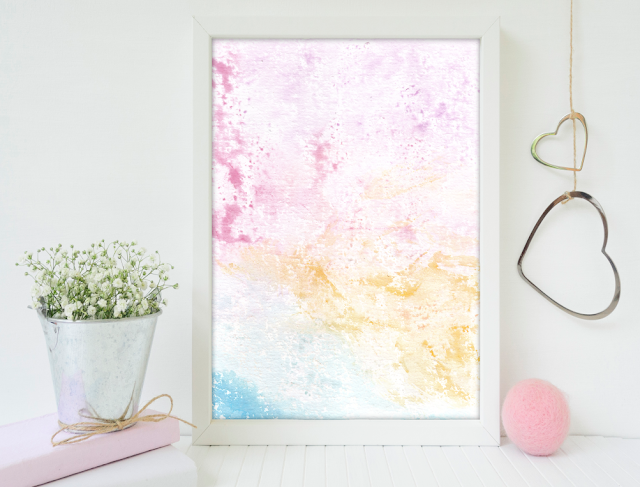 Cotton Candy Watercolor Texture