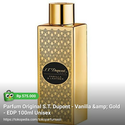 st dupont vanilla & leather edp 100ml unisex