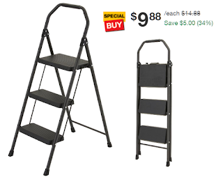 Groovy Gorilla Ladders 3 Step Compact Steel Step Stool 9 88 Free Caraccident5 Cool Chair Designs And Ideas Caraccident5Info