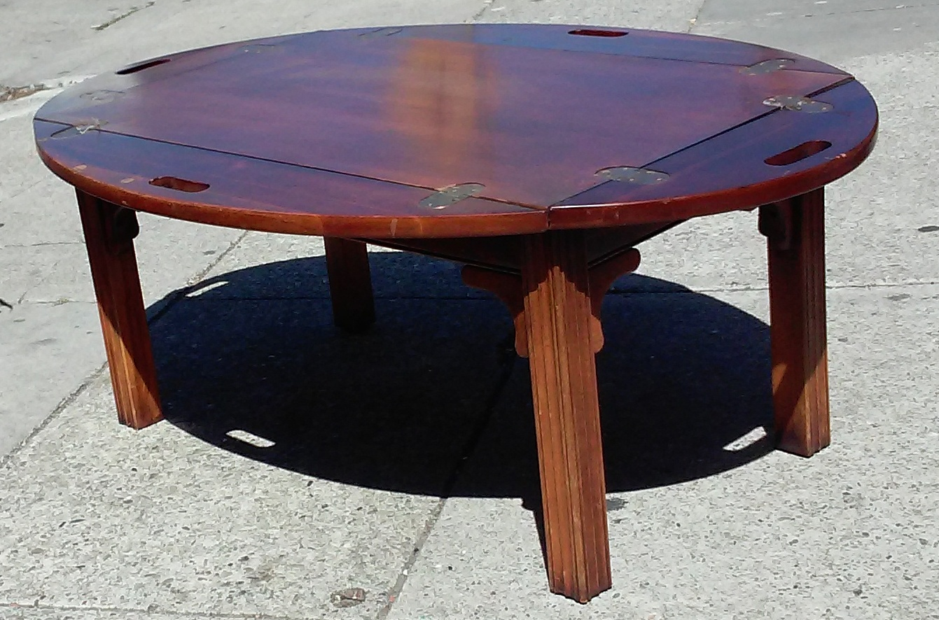 Uhuru Furniture Collectibles Sold 5681 Mahogany Serving Tray Coffee Table 45