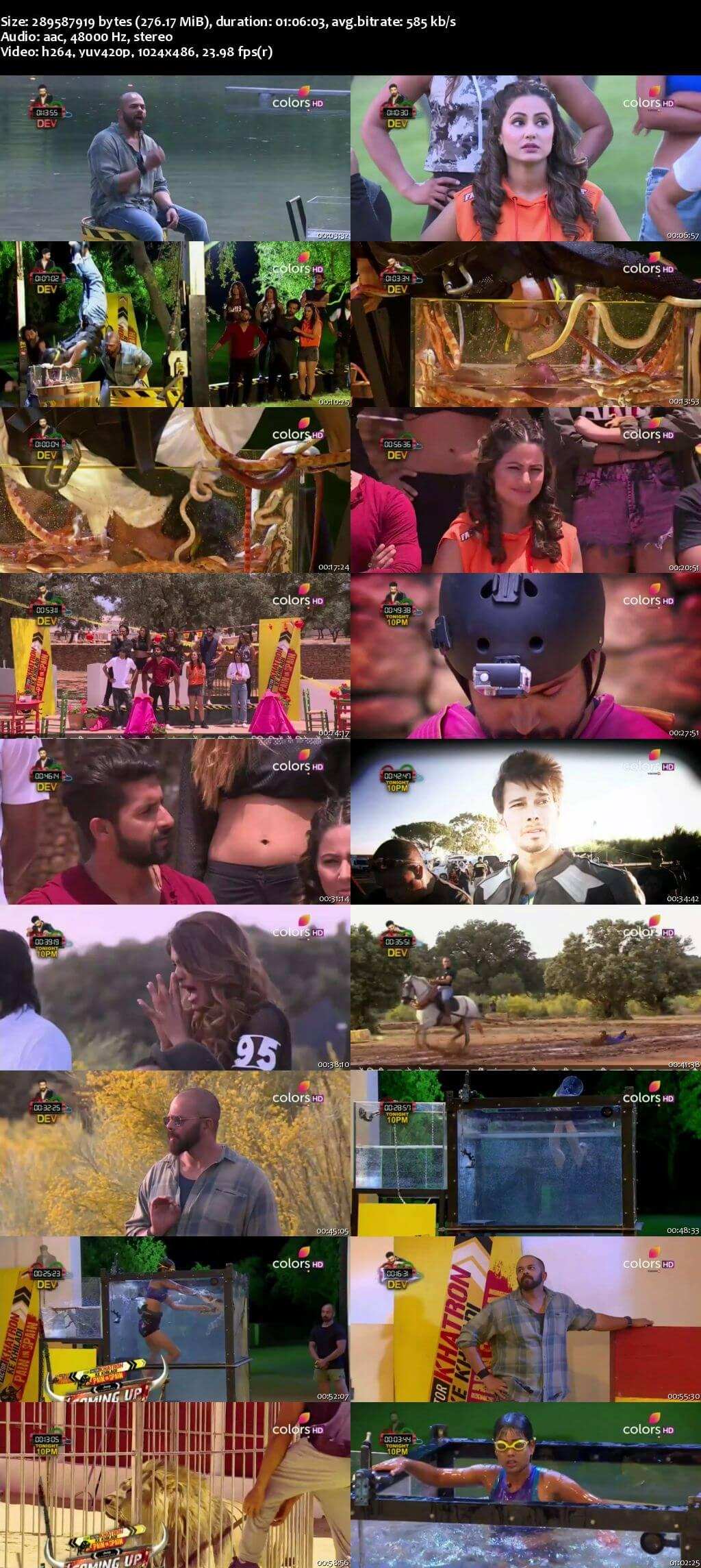 Screenshots Of Hindi Show Fear Factor Khatron Ke Khiladi Season 8 2017 6th August Episode 06 300MB 480P HD