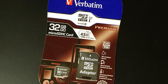 VerbatimのmicroSDカードを使用した感想・レビュー