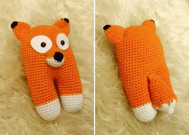 pattern crochet fox blankie