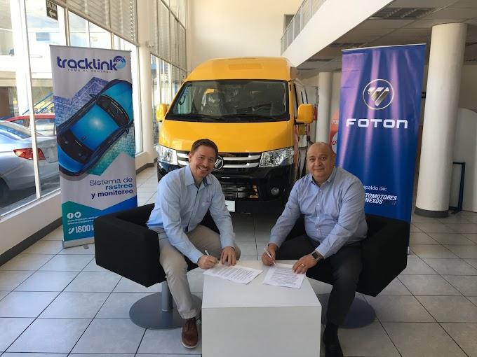 Foton y Tracklink firman convenio estratégico