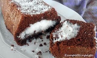 Plumcake al cacao con cuore di cocco