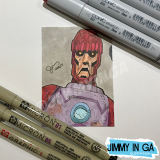 "Sentinel - Copic Markers on 2.5"" x 3.5"" Sketch Card"