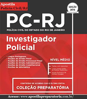 Apostila para concurso PCERJ Investigador Policial