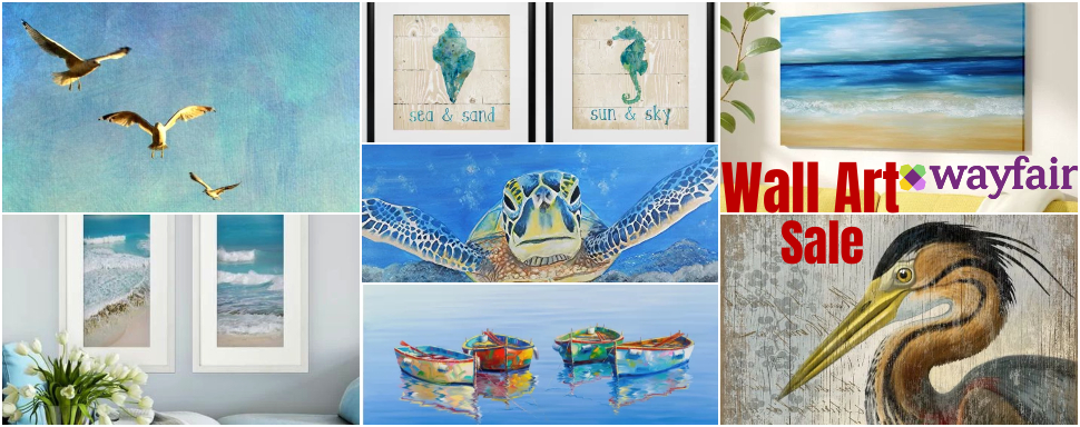 Coastal Wall Art Decor Sale at Wayfair