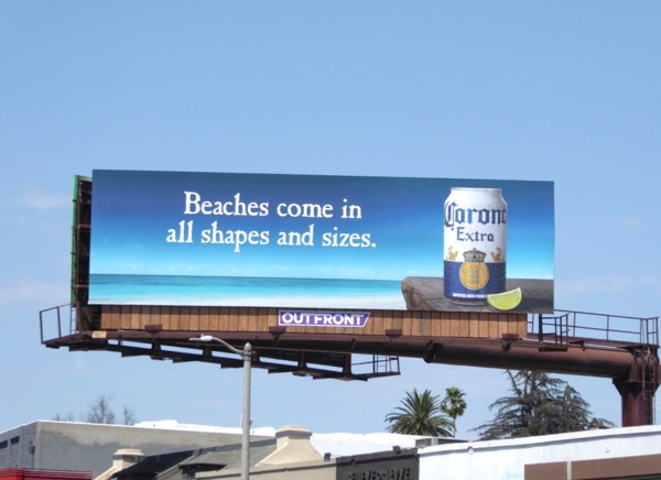 Corona Beaches all shapes sizes billboard