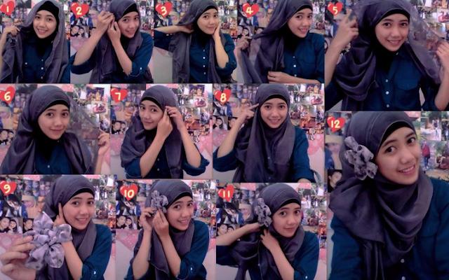 Tutorial Hijab Segi Empat Versi Ivan Gunawan