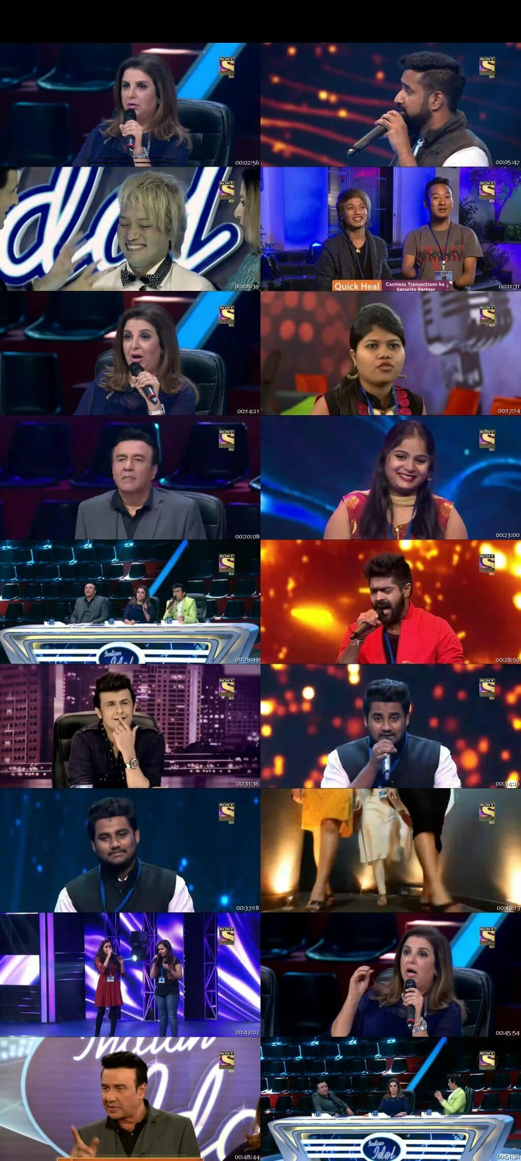 Screenshots Of Hindi Show Indian Idol 7th January 2016 Episode 05 300MB 480P HD
