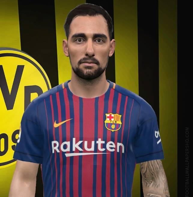 Fc Barcelona Facepack V2 0 By Reza Koolivand: Ultigamerz: PES 2017 Paco Alcacer (FCB) Face