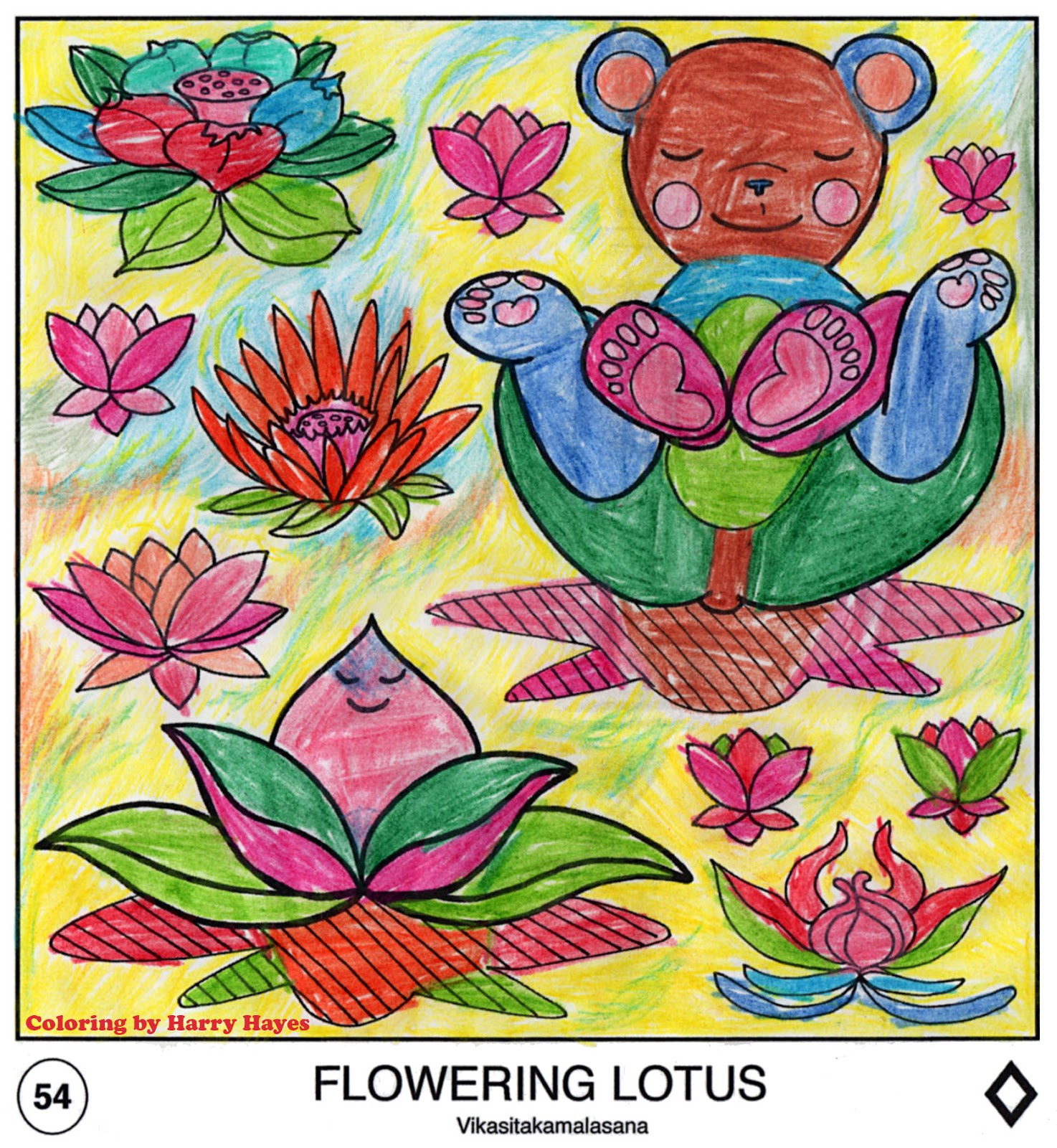 Yoga Teddy Bear A Flowering Lotus In Honor Of Mothers Everywhere