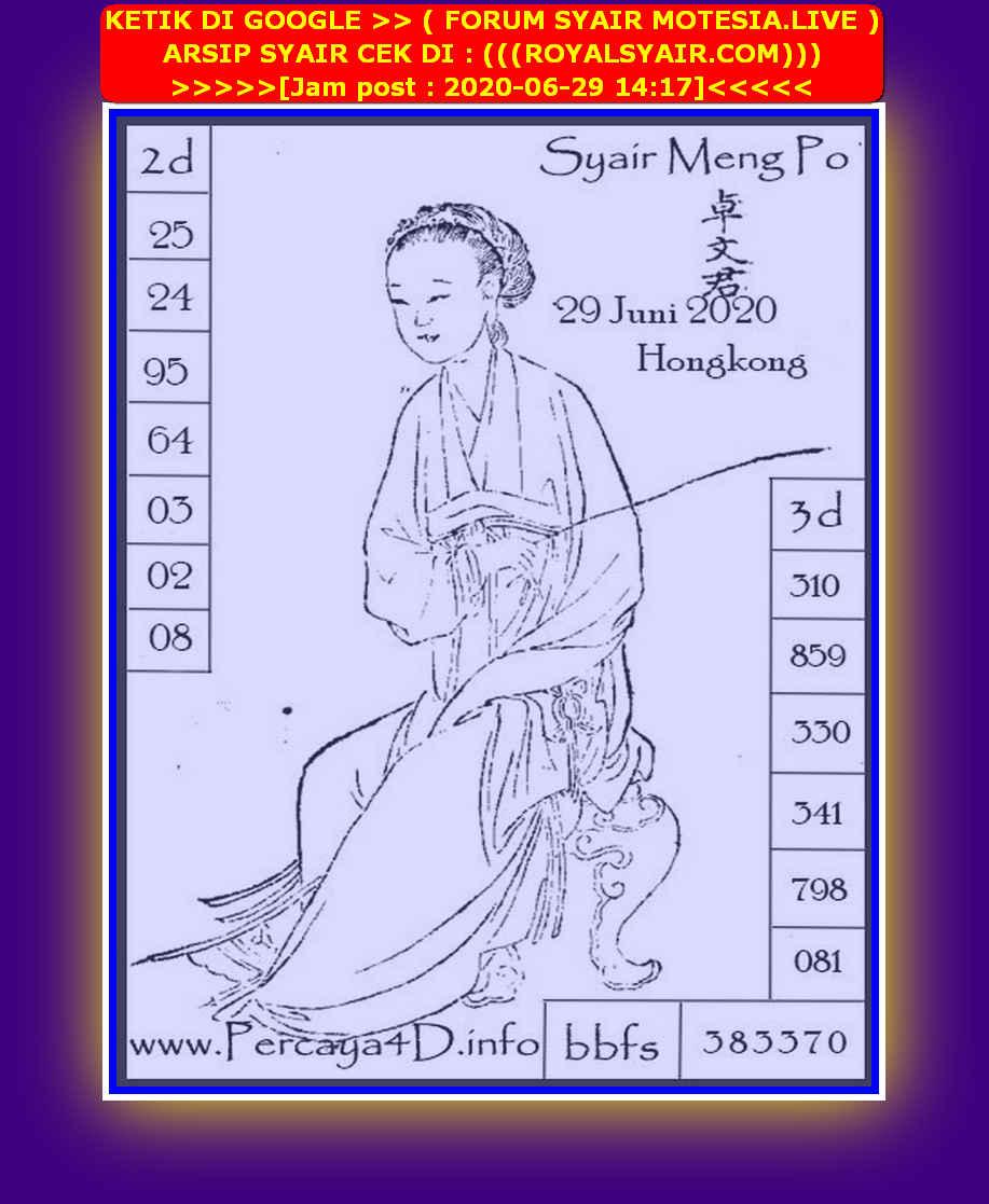 Kode syair Hongkong Senin 29 Juni 2020 199
