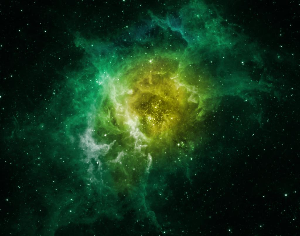 green high resolution nebula wallpaper - photo #7