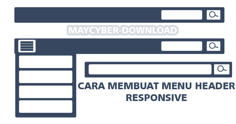 html header menu templates - cara membuat menu header plus tombol search responsive