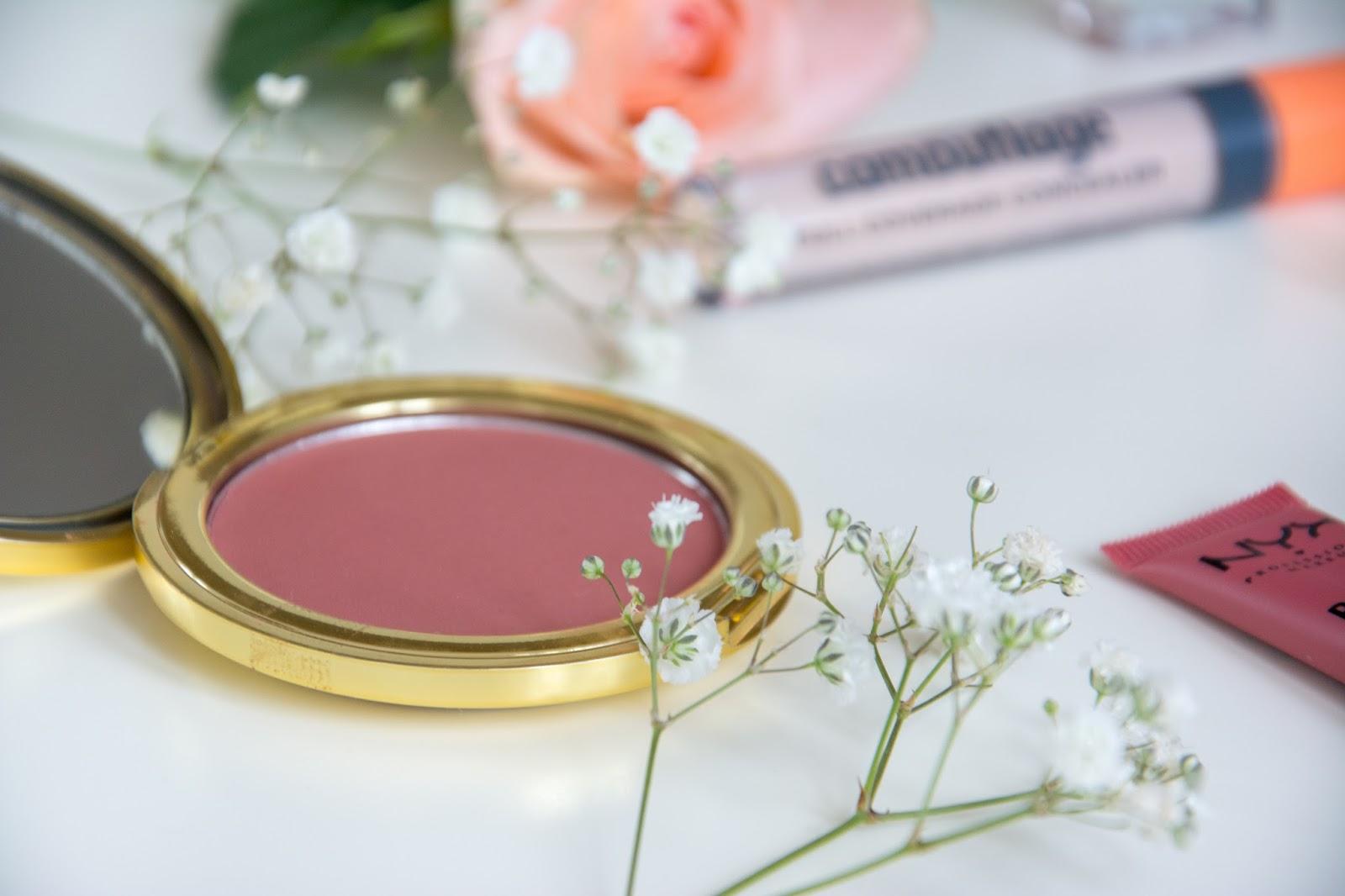 essence camouflage concealer; NYX Powder Puff Lip Lipcream; Primark Blush