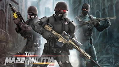 Download Game Maze Militia: LAN Online Multiplayer Shooting Apk + Mod (Unlimited Money)  v2.3 Offline