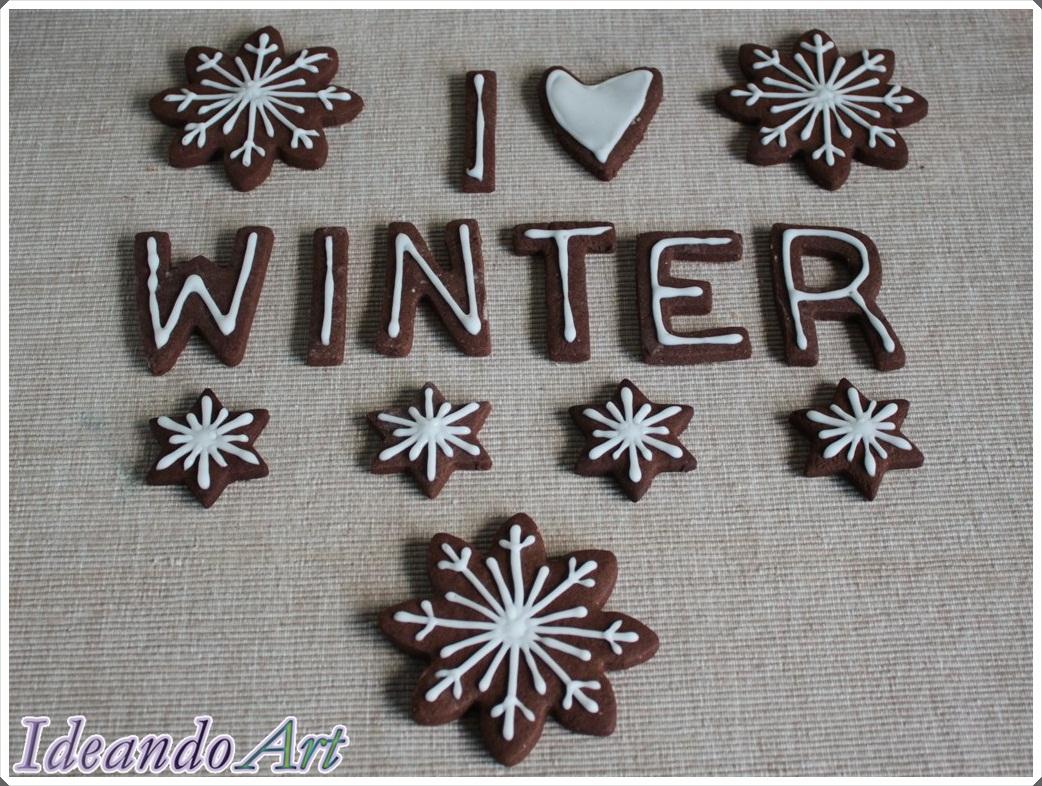 Galletas chocolate invierno