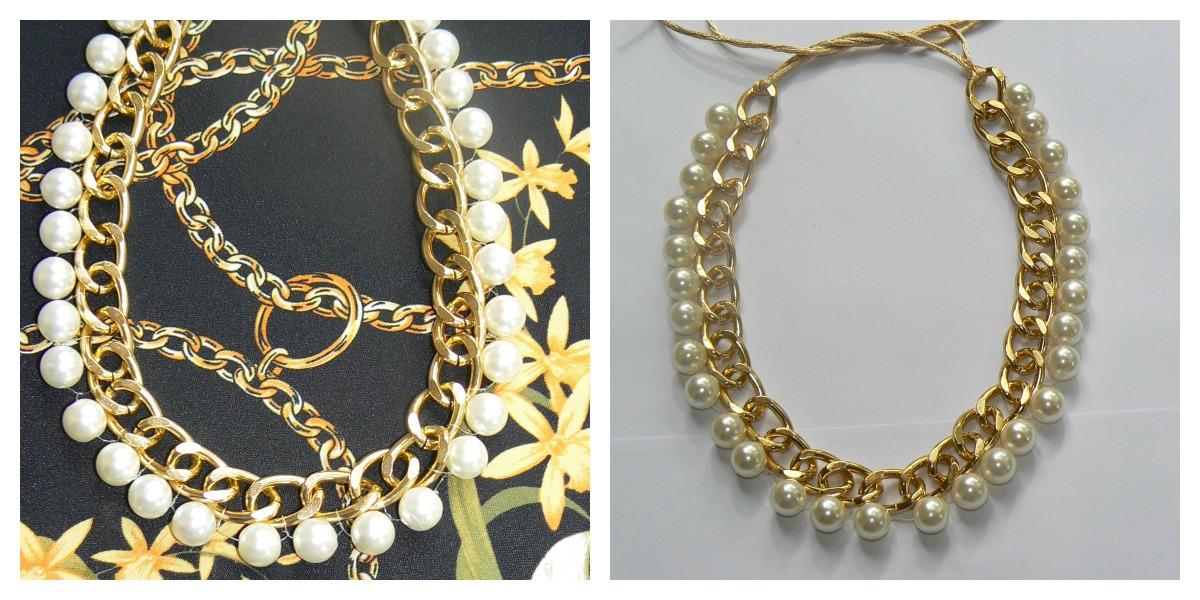 d43529d421c5 pakicel bisuteria  Collar cadena y perlas