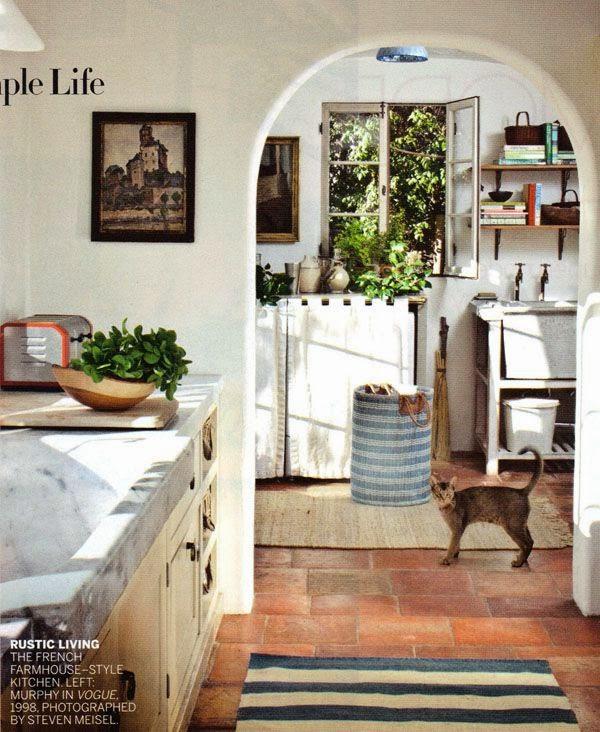 French Farmhouse Kitchen Design: California Girl Carolyn Murphy's Style
