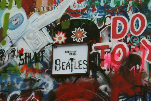 The Lennon Wall. Prague, Czech Republic