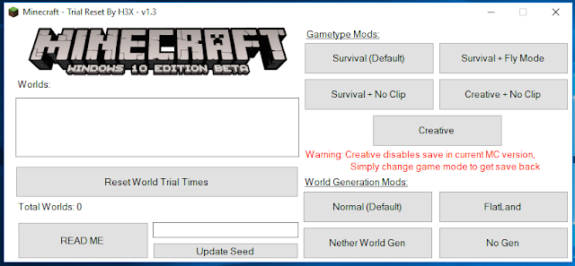 Minecraft Windows 10 Edition Trial Reset