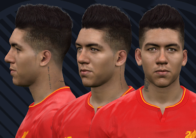 "PES 2017 Faces Roberto ""Bobby"" Firmino by WER Facemaker"