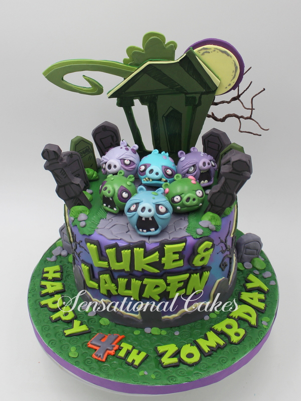 The Sensational Cakes Spectacular 3d Haunted Angry Birds Theme