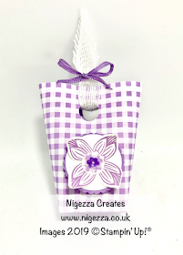 Stampin' Up! Gingham Gala Mini Gift Bag Nigezza Creates