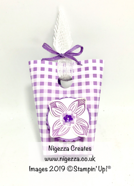 Stampin' Up! Gingham Gala Mini Gift Bag Nigezza Creates