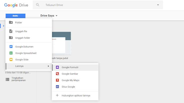 Membuat Halaman Kontak Blogger Menggunakan Google Drive