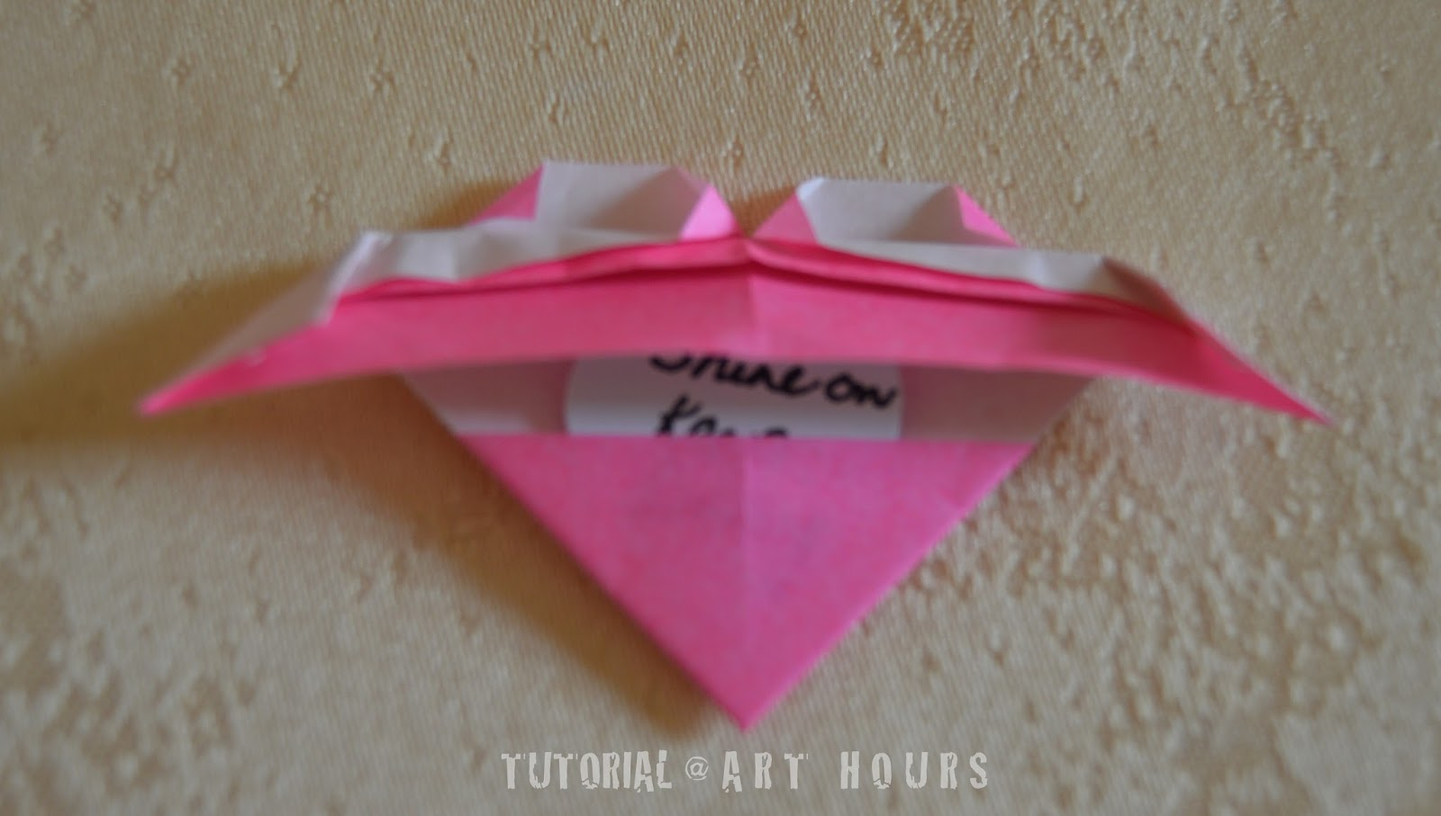 ArchGuide: Origami Winged Heart with a Secret Message
