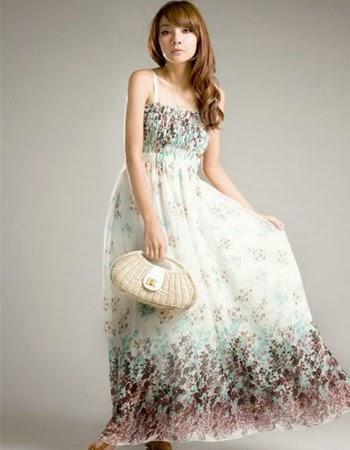 model baju long dress korea