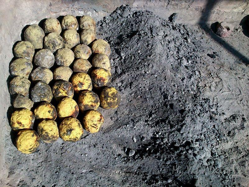 Baked Bajre ki baati in Khole Ke Hanuman  Temple, Jaipur, Rajasthan