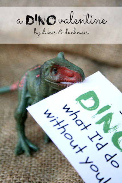 dinosaur valentine with printable