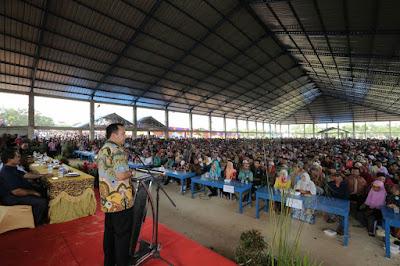 Gubernur Ridho Disambut Ribuan Masyarakat Mesuji