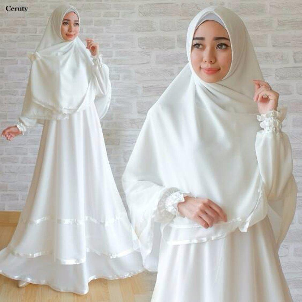 Gamis Putih Polos Model Baju Terbaru Untukmu Yang Hobi Mix And