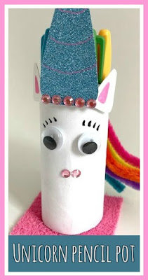 How to make a unicorn pencil pot craft
