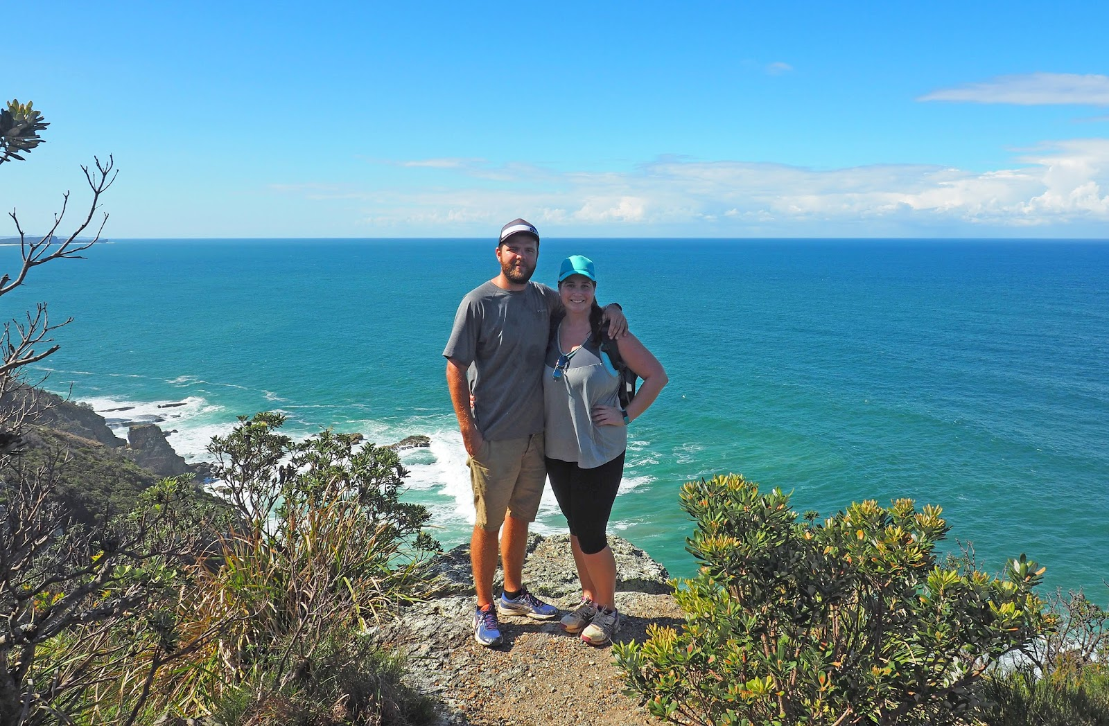 Couple at lookout Diamond Head Loop Walk