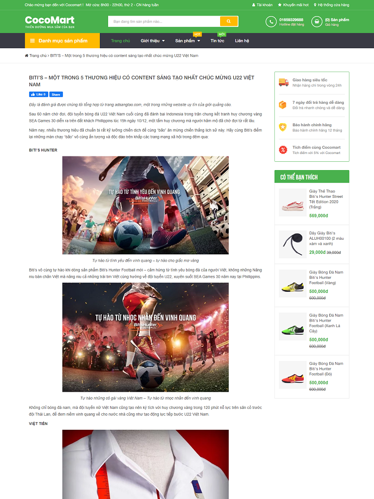 Template blogspot bán hàng Cocomart Green chuẩn seo - Ảnh 2