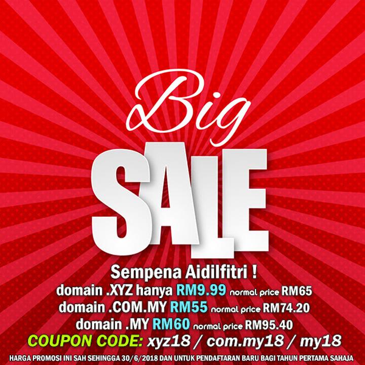 Promosi Harga Domain Serendah RM10