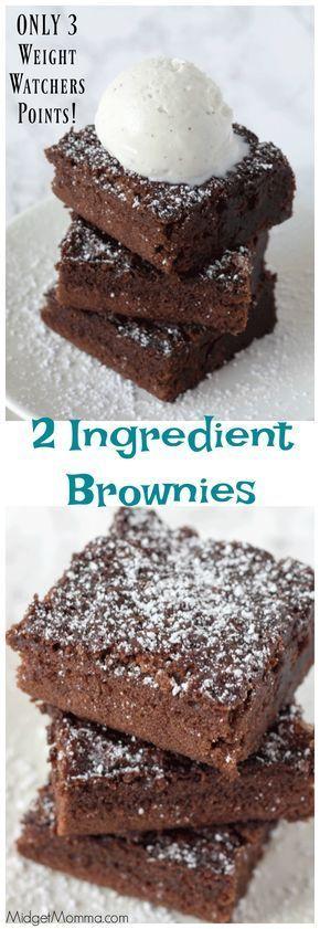 2 Ingredient Brownies {Weight Watchers Friendly!}