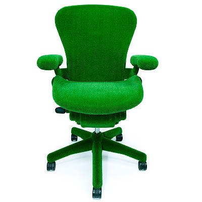 faux moss-covered aeron chair