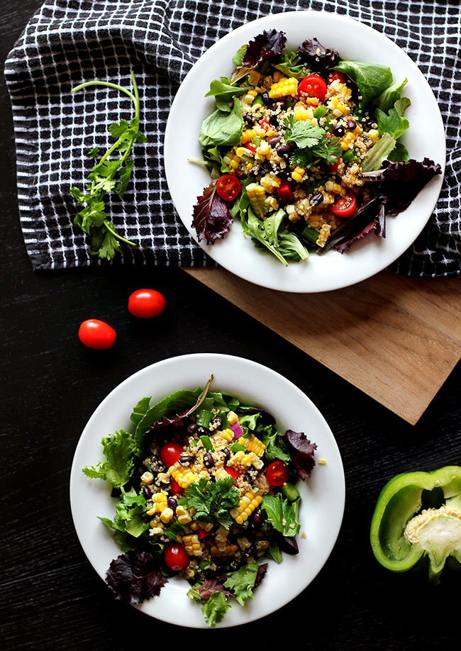 Sweet Corn and Black Bean Quinoa Salad