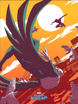 Spider-Man vs Vulture Marvel Screen Print by Florey x Grey Matter Art