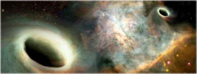 Dois buracos negros monstruosos foram vistos orbitando um ao outro pela primeira vez