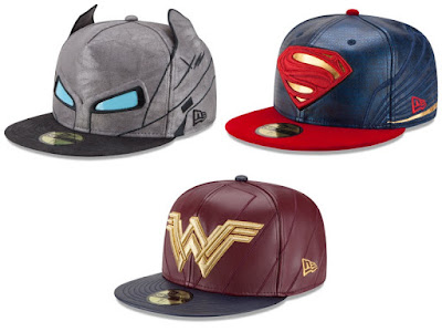Batman v Superman: Dawn of Justice Character Armor 59Fifty Fitted Hat Collection by New Era - Armored Batman, Superman & Wonder Woman