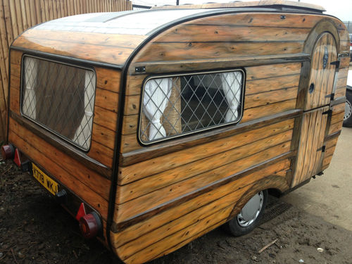 Shedworking Airbrushed Micro Caravan Shed